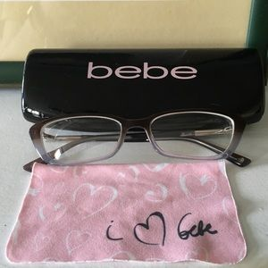 Bebe Glasses, Case, and Cloth